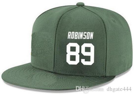 Cappelli Snapback Personalizzato qualsiasi numero Nome giocatore # 82 Rodgers # 89 Cappelli personalizzati Cappellini personalizzati TUTTI I team Riconoscimento Made Logo a ricamo piatto Nome