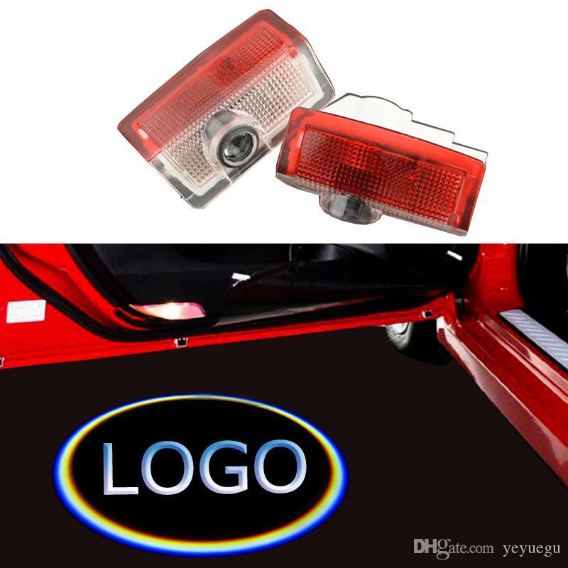 Luzes da porta do carro 3D logotipo do laser projetor bem-vindo lâmpada led sombra fantasma luzes de cortesia para Audi BMW Mercedes-benz Toyota VW