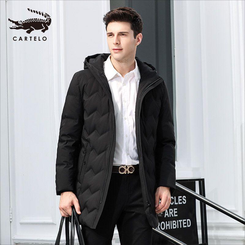 Dzys 90% dos homens de pato para baixo casaco quente para baixo casaco com capuz para homens masculino