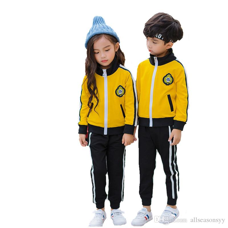Niños Niñas Ropa deportiva Conjunto Niños escolares Traje de seguimiento de correr Trajes de jogging para niños Cómodo 2 piezas Chaqueta + Pantalones