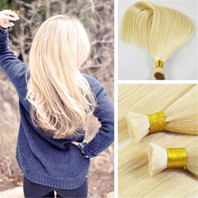 ملحقات الشعر السائبة الإنسان 14-26 بوصة 150 جرام مجموعة مستقيم الشعر البشري شقراء اللون 613 # قبول تخصيص الشعر الملونة