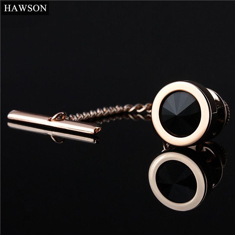 HAWSON Envío gratis Gold-Color Tie Tack Camisa para hombre Joyería Fashion Pin de corbata