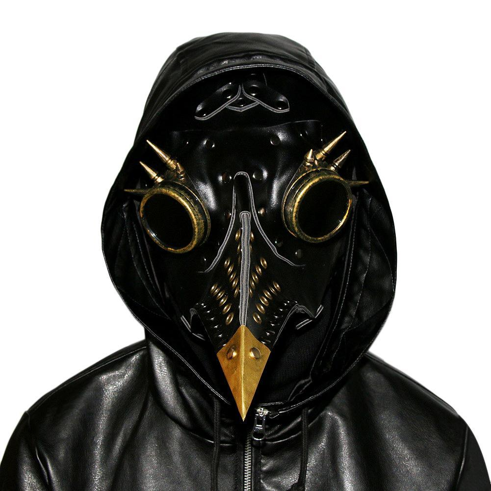 Halloween Cosplay Props Plague Doctor Mask Bird Beak Spike Steampunk Face Mask