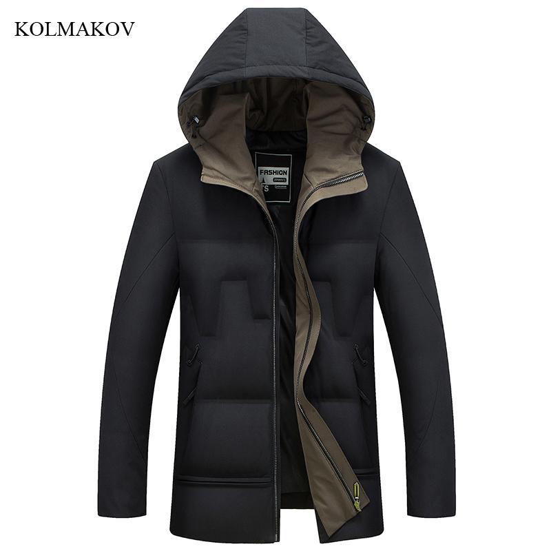 2018 nouvelle arrivée hiver style hommes boutique loisirs vers le bas manteaux mode casual mince épais solide canard blanc hommes doudoune m-4xl