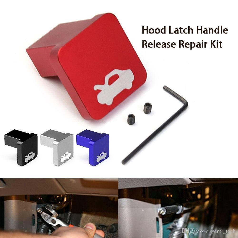Blue Aluminum Hood Latch Handle Release Repair Kit For Honda Civic 96-2005 ELEMENT CRV