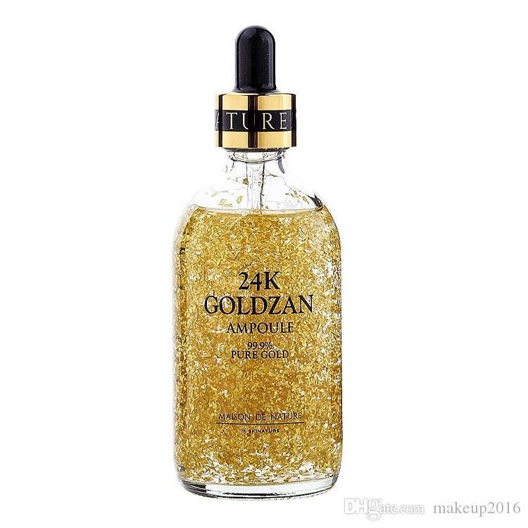 Dropshipping를 Skinature 24K Goldzan 앰플 (24) K 페이스 크림 피부 항산화 세럼 프라이머 얼굴 스킨 케어 에센스 오일을 향상