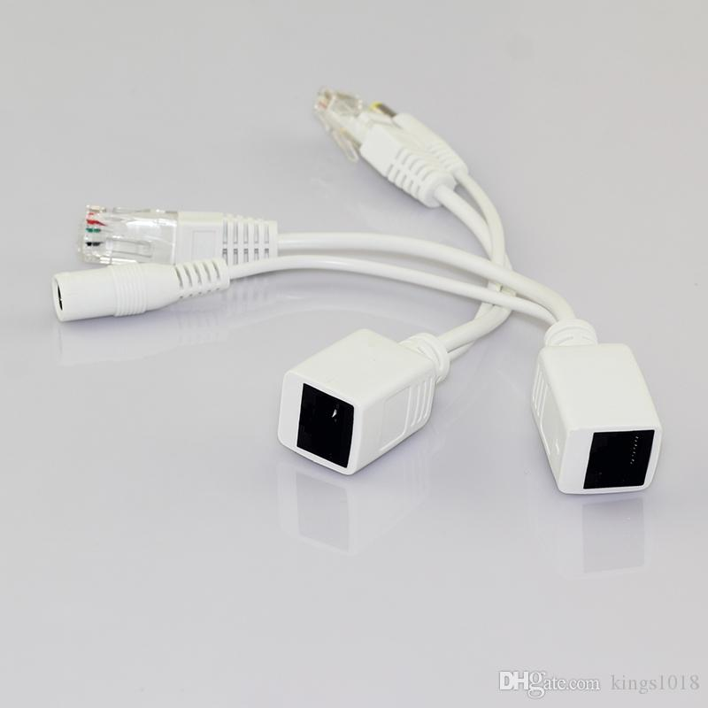 Network Camera 2pcs 1pair Poe Connector Cable Separator Injector 12V Poe Adapter