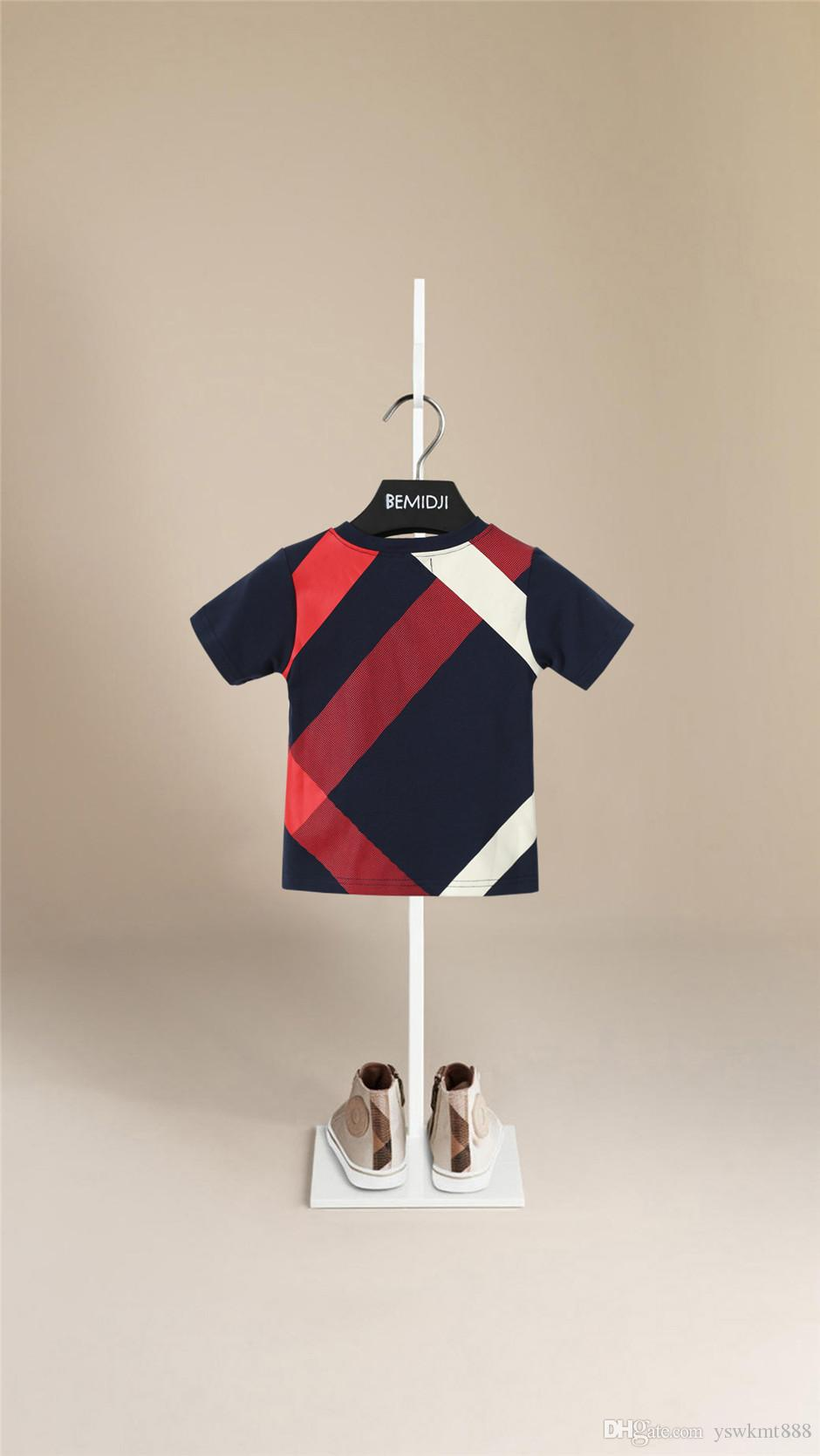 Maglietta a maniche corte T-shirt per il tempo libero per bambini di alta qualità