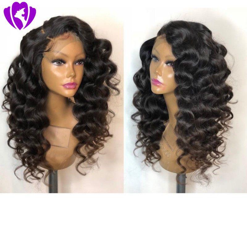 Высочайшее качество натуральный черный Сыпучие волна короткий боб парик теплостойкость боковая часть Glueless Synthetic фронта шнурка для чернокожих женщин