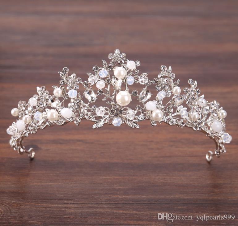 Taç gelin şapkalar, gümüş kristal boncuklar, taç süsleri, gelin tacı düğün aksesuarları.