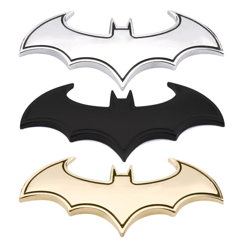 Carro 3D etiquetas legal do metal Bat Auto Logo Car Styling metal Batman emblema do emblema da cauda do decalque da motocicleta Acessórios Car Automóveis