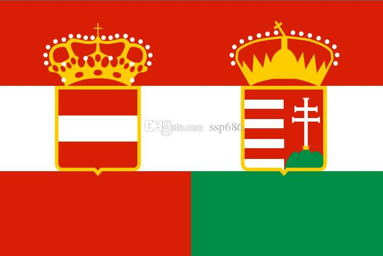 Austria Flaga Austria Węgry (1869-1918) 3ft x 5ft poliester banner latający 150 * 90 cm niestandardowa flaga na zewnątrz