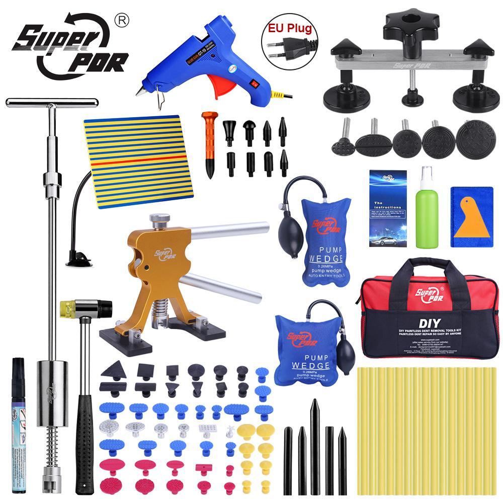 Super PDR-Tools Dent Removal Kit für Auto Dent Puller Saugnapf-Klebestifte für Heißkleber Pistole Line Board Pumpe Keil Air Bag