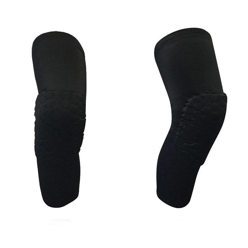 PRO EVA honeycomb lengthened knee protector S M L XL sports knee pad basketball football leg sleeves