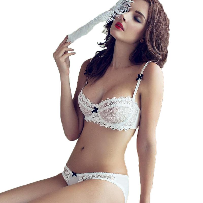 c3b8a0f5009 2018 Oudomilai 2018 Hot Push Up Bra Set Sexy Lace Underwear Set For Women  Unlined Plus Size Transparent Bra Panty Female Lingerie From Begonier, ...