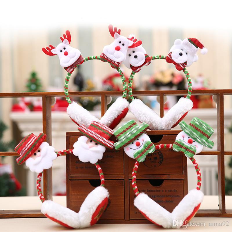 Рождество Санта-Клаус взрослых детей повязки теплые наушники рождественские украшения партии игрушки Новый год поставки бесплатная доставка 2018 новый горячий продажа