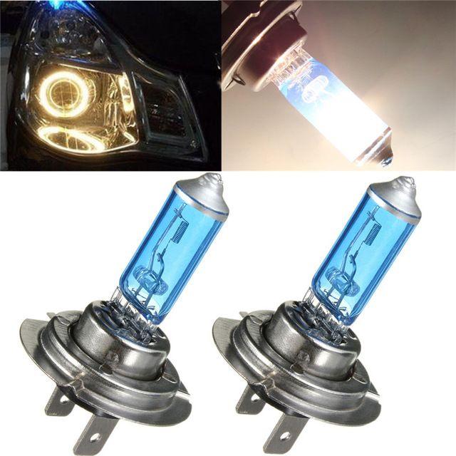 4Pcs H7 55W Auto Halogen Front Headlights Head Lamp Car Fog Lights Parking Bulb Lamp Bright Xenon White 6300K 12V Car Styling