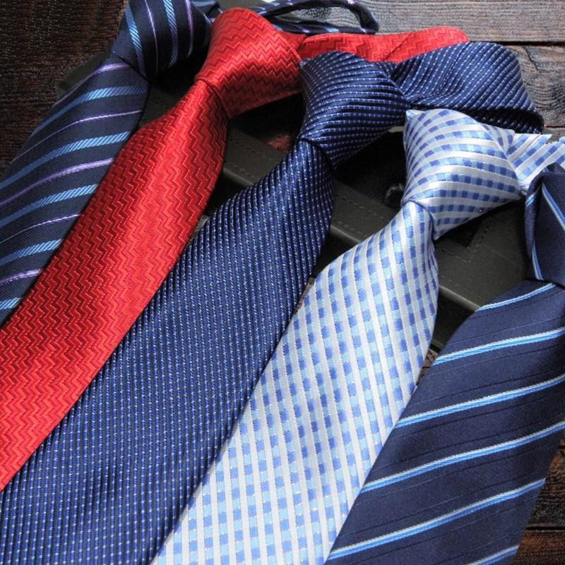Cravatta da uomo inventario Cravatta da uomo Ascot Dress Shirt Camicia Strisce Strisce Leghetti Cravatta floreale Cravatta in poliestere per uomo 2pcs / lot