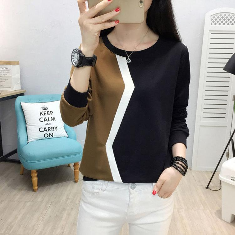 Plus Size Tshirt Women Fashion Long Sleeve T-shirt Women Tops Casual Camiseta femme Patchwork Tshirts Women Poleras Mujer 2019 (10)