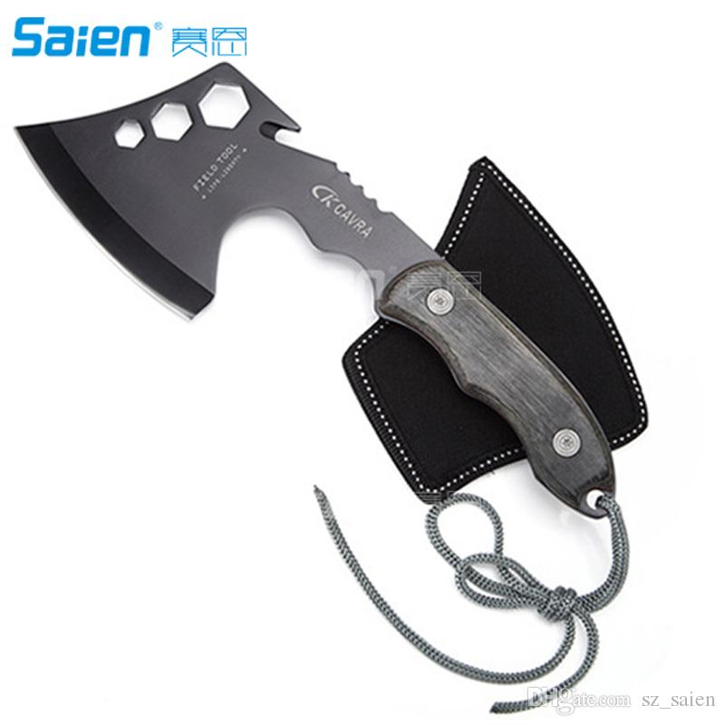 2020 Survival Hatchet Hand Held Camping Axe With Full Tang Sheath Ideal Tool For Outdoor Tactical Use Hunting From Sz Saien 17 24 Dhgate Com