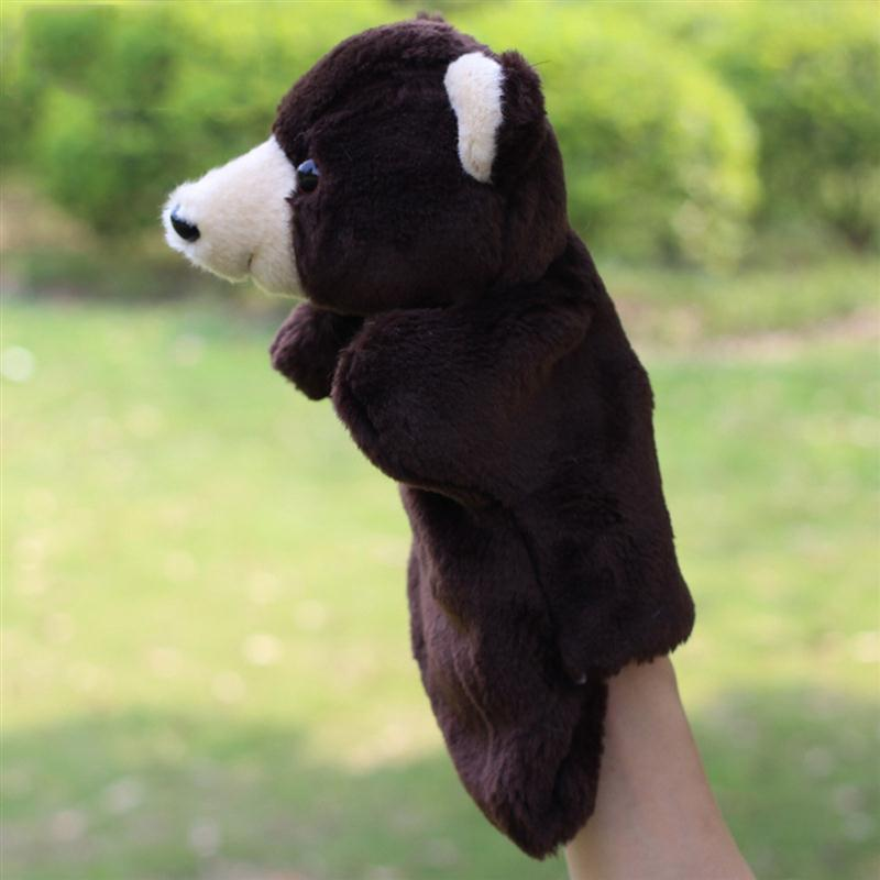 2017 New Cute Polar Bear Animal Hand Puppets Baby Loves Doll Parent-child Games Toys Family for Kids Xmas Birthday Gifts