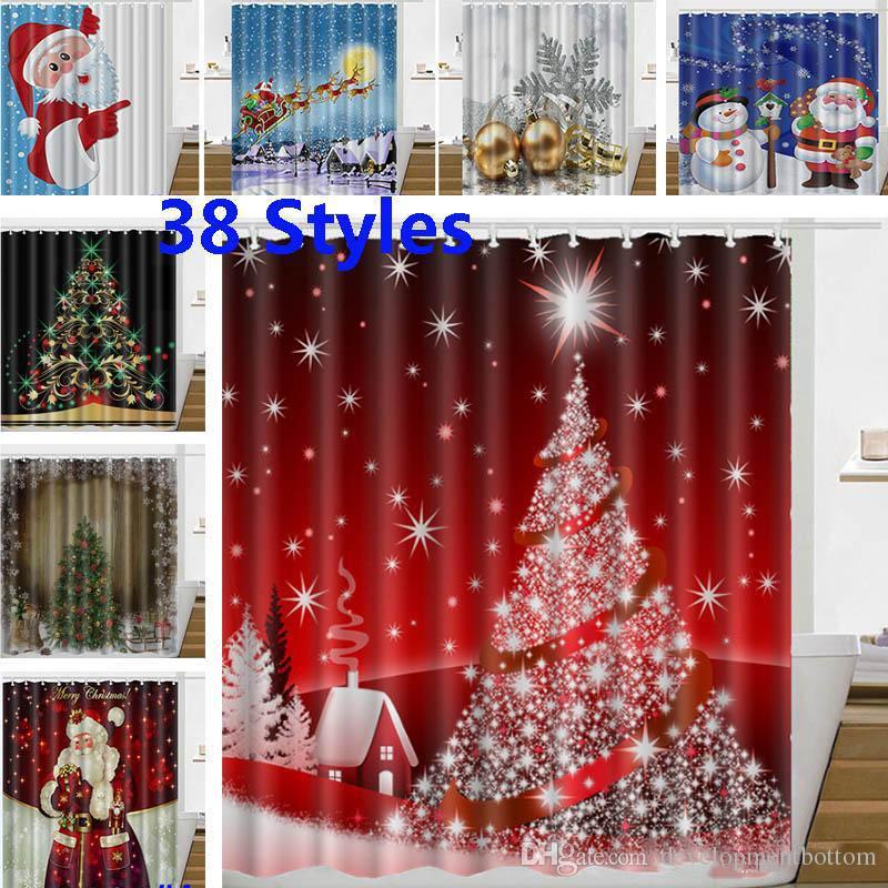 Großhandel Weihnachten Duschvorhang Weihnachtsmann Schneemann ...
