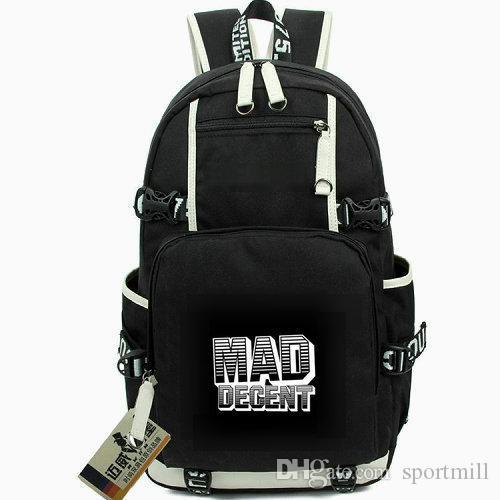 Diplo Rucksack Mad Decent Schultasche Die meisten dynamischen Kräfte Tagesrucksack Computer Schultasche Outdoor Rucksack Sport Tagesrucksack