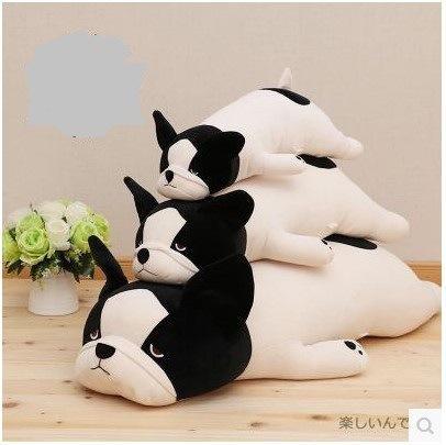 1Pc 50-85Cm 3 색 귀여운 프랑스어 불독 플러시 인형 장난감 인형 모델 부드러운 면화 강아지 베개 아기 키즈 생일 선물 누워