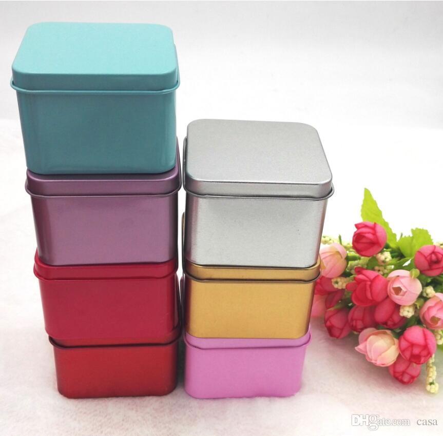 Acheter 6 5 6 5 4 5cm Haute Qualite Colore The Candy Boite De Boite De Rangement Bijoux Cas Carre En Metal Mini Boite De Bonbons De 0 51 Du Casa Dhgate Com