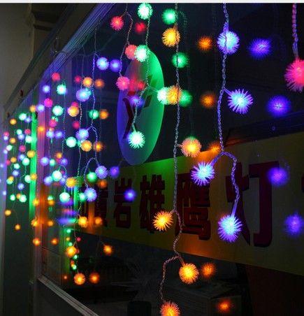 متعدد الألوان 4 متر * 0.65 متر 100 أدى سنو إديلويس الستائر سلسلة عيد الميلاد حفل زفاف عطلة حديقة الديكور