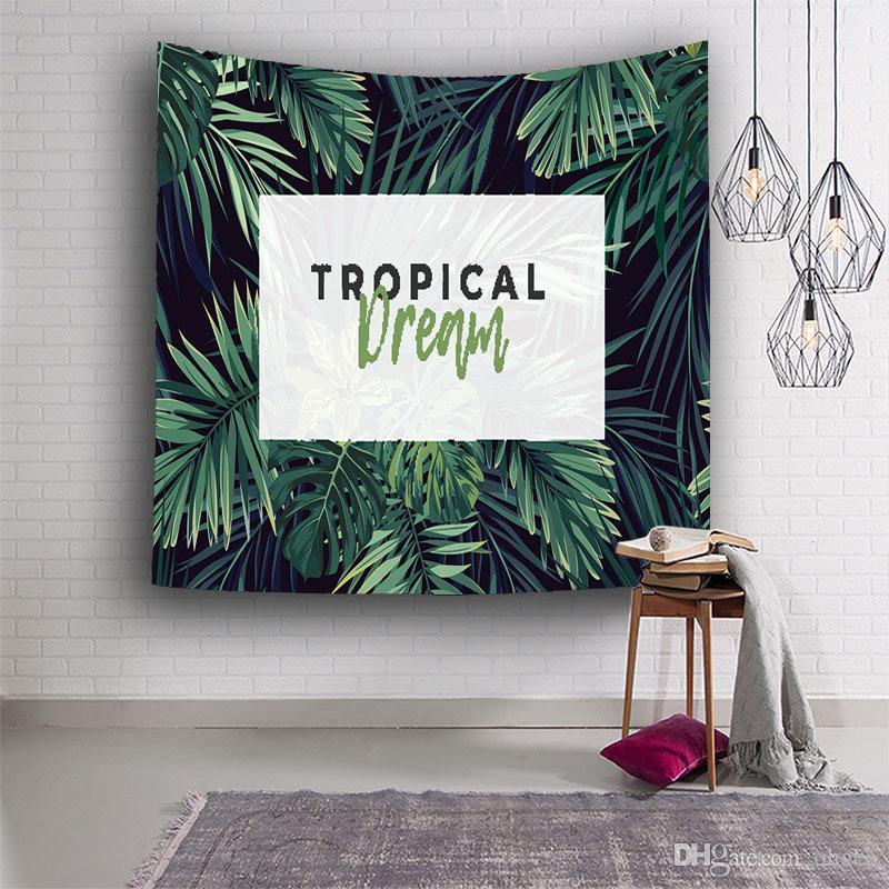 Тропическая мечта Стиль гобеленов висит на стене колледжа общежития украшения домашнего текстиля пляжные ткани.
