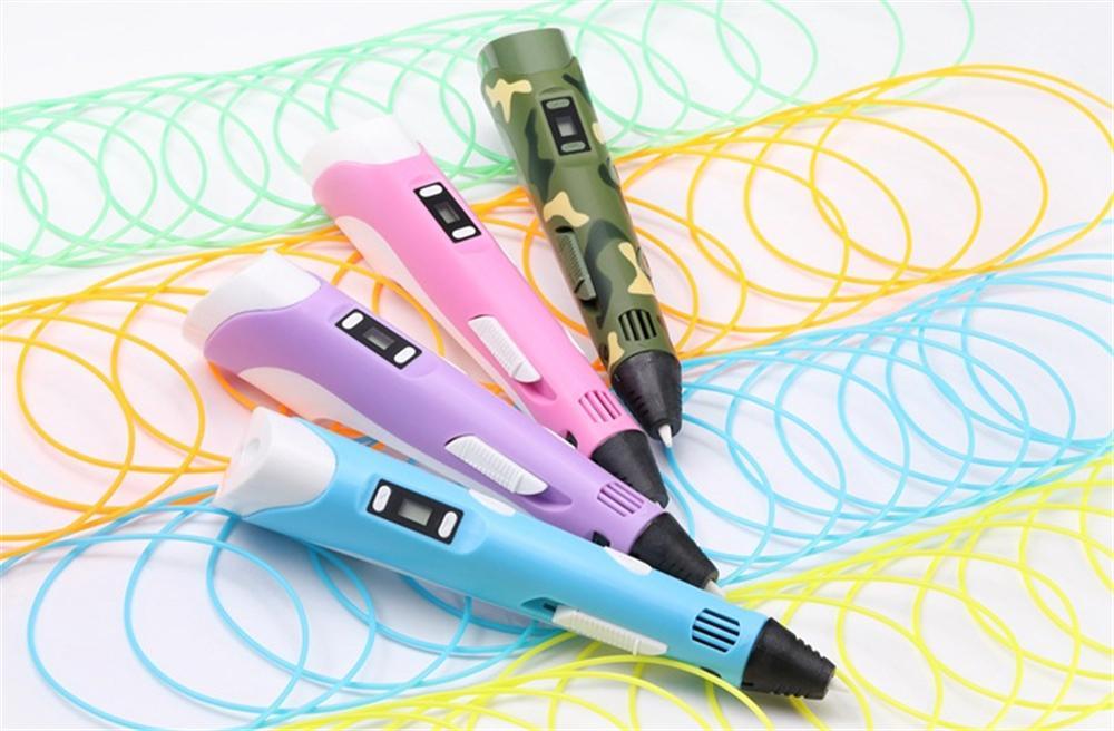 Display LED PLA Filamento Caneta de Impressão 3D DIY Inteligente Caneta Impressora de Desenho Melhor Presente Para Crianças de Natal Novidade Brinquedos