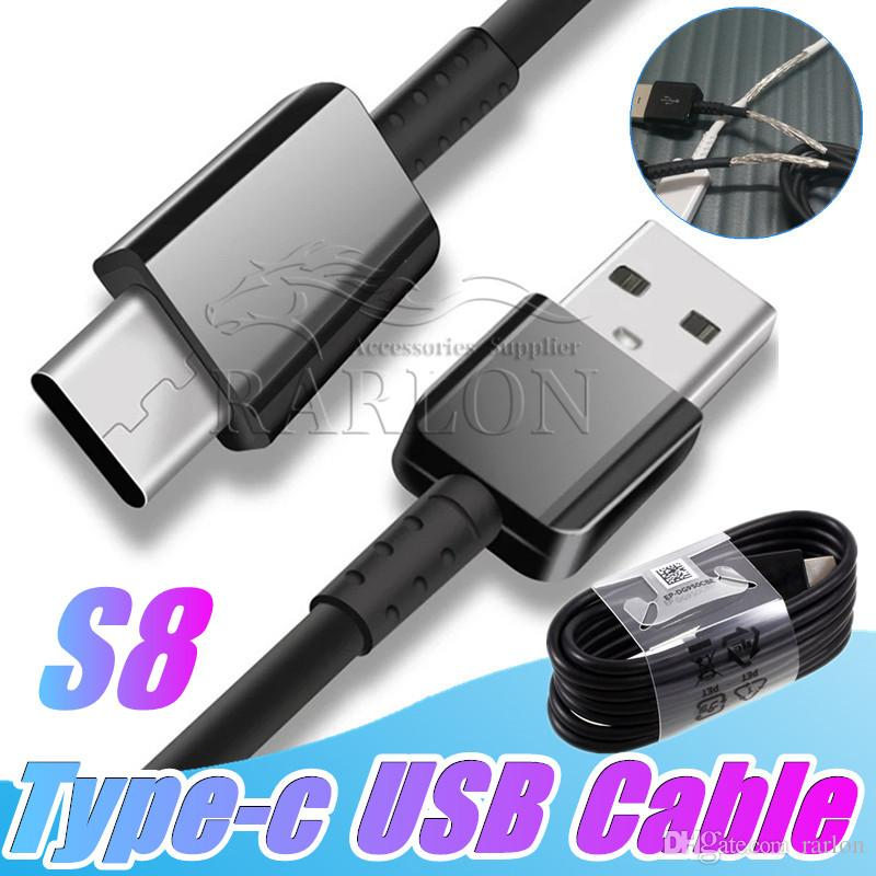 USB C Cable 4FT Type-C Fast Charging Data Sync Cable Compatible For Samsung Galaxy S10 S8 Plus Note 10 Huawei P30 Pro Moto Android