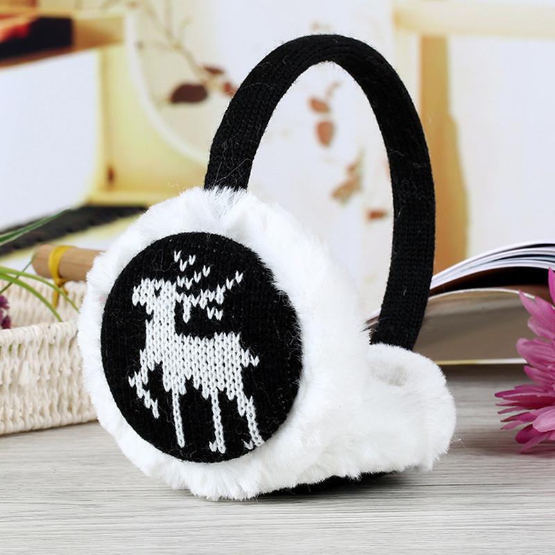 Winter Warm Damen Mädchen Plüsch Flauschige Hirsch Ohrenwärmer Ohrenschützer