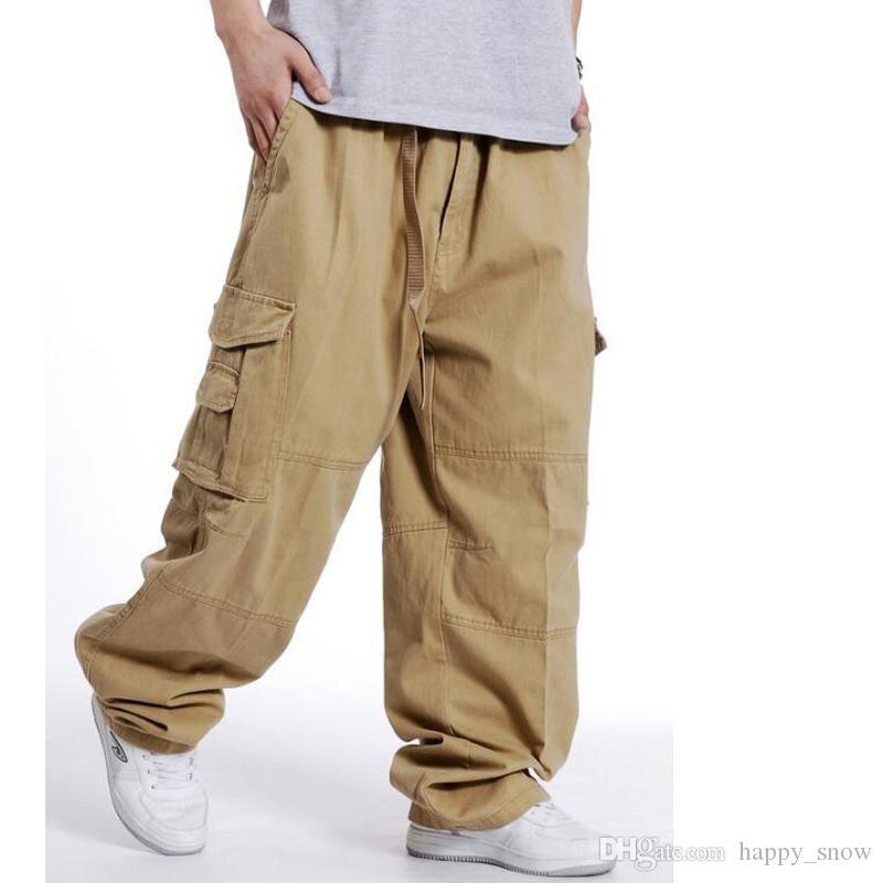 Pantaloni sportivi da uomo Pantaloni Hip Hop da ballo Pantaloni da uomo Pantaloni sportivi larghi Pantaloni larghi da uomo