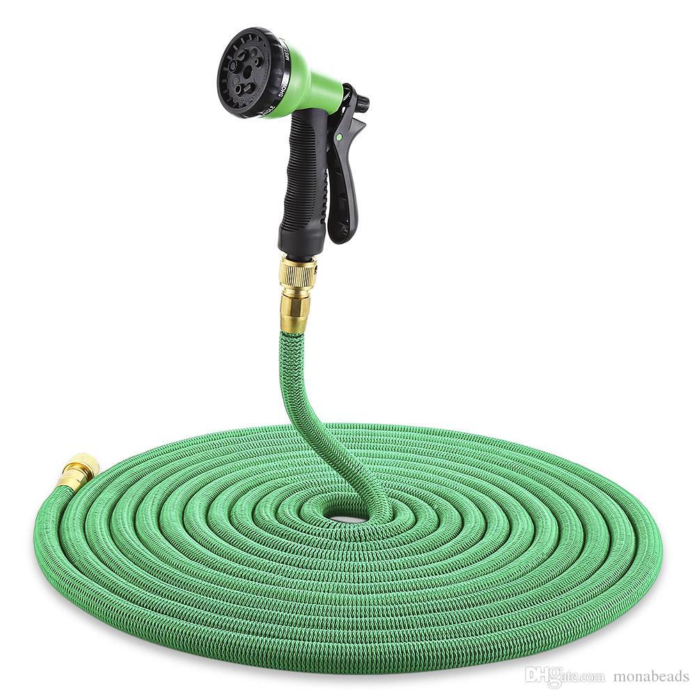 High Quality 25FT/7.5m Garden Hose Expandable Magic Flexible Water Rubber Hoses Pipe Spray Gun Outdoor Garden Watering Hose