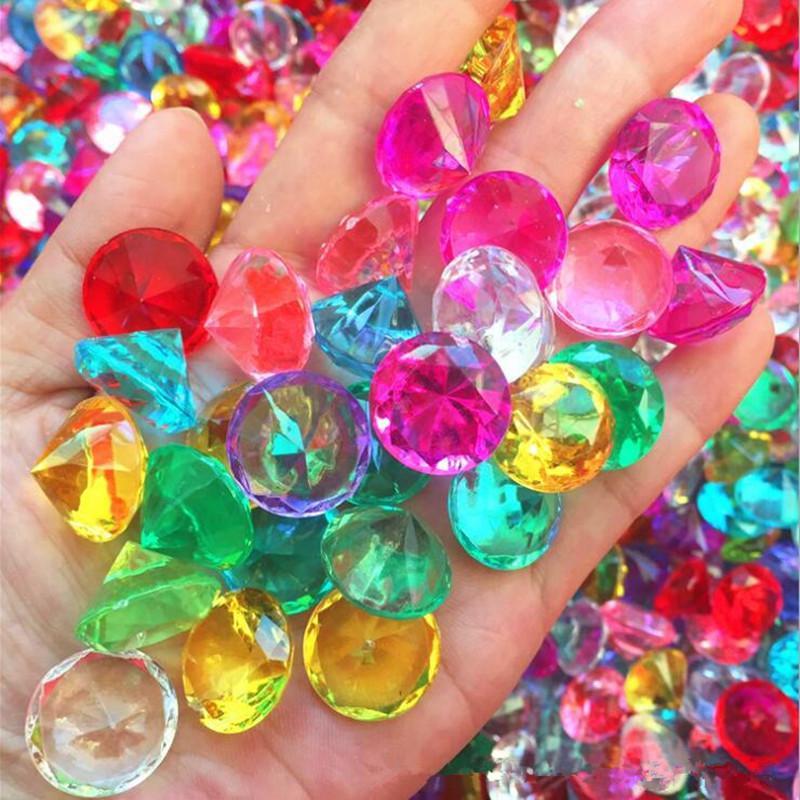 20mm 아크릴 크리스탈 가짜 다이아몬드 보석 어린이 보물 상자 키즈 코스프레 소품 액세서리 할로윈 파티 호의