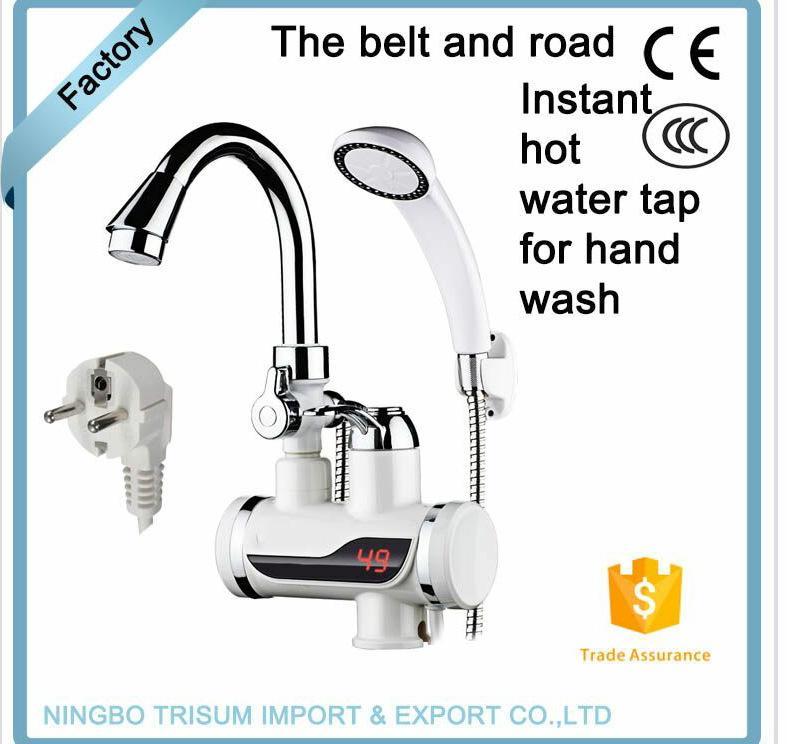 Torneira de aquecimento de água instantânea elétrica 220V Torneira de aquecimento a frio para o banheiro da cozinha EU plus