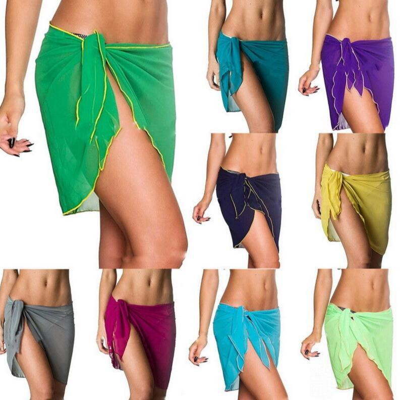 09bf3bd98b1d8 Summer Beach Cover up Bikini Swimwear Sarong Wrap Pareo Skirt Tops Swimsuit  Sexy women swimwear beach skirt EEA339 120pcs