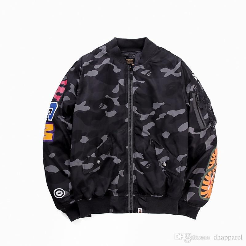 All'ingrosso Autunno Inverno New Street Fashion Viola Grigio Camo Jacket Coat Casual da uomo con cappuccio sciolto Tops
