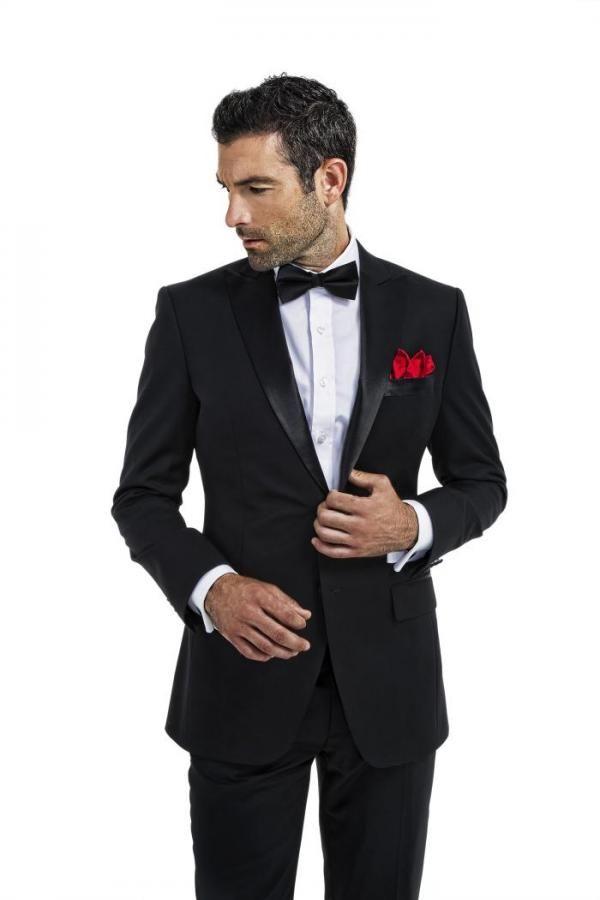 Abiti da sposo aderenti su misura per uomo Abiti da sposa Smoking neri Abiti da sposo slim Formali belli Blazer Abiti da ballo Prom Party 2 pezzi Giacca + Pantaloni