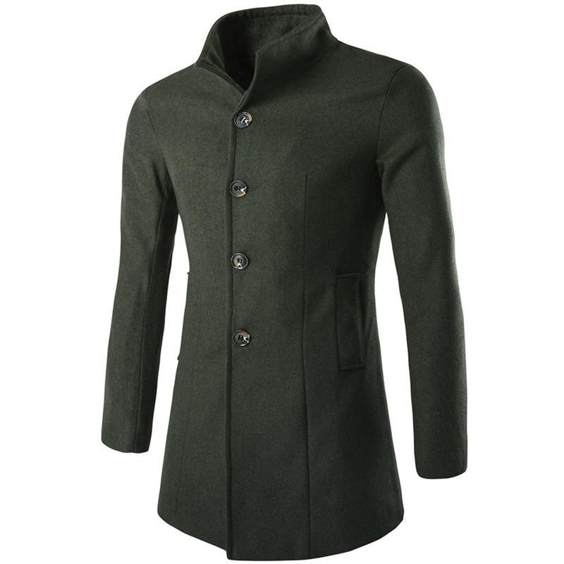 와일 # # 1501 겨울 망 패션 트렌치 옷깃 롱 코트 Th 스킨 자켓 피코트 롱 오버 코트
