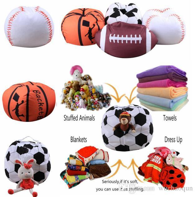 Fine 4 Designs 18 Inch Ball Bean Bag Football Basketball Baseball Storage Bean Bag Baby Stuffed Plush Pouch Bag Organizer Beanbag Chair Back Bags For Girls Ocoug Best Dining Table And Chair Ideas Images Ocougorg