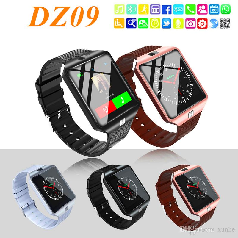 DZ09 Smart Watch with Camera Healthy Tracker Intelligent Watch Support TF/Sim Card Bluetooth Wristwatch for Android Phone with Retail Box