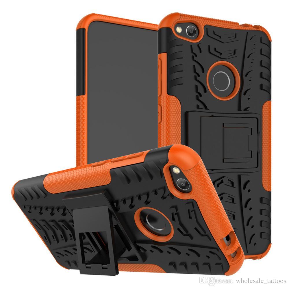 실리콘 플라스틱 갑옷 커버 충격 방지 견고한 킥 스탠드 케이스 아이폰 XS X 삼성 갤럭시 A6s J2 코어 A9 2018 A9 스타 프로 A9s A7 2018 A750