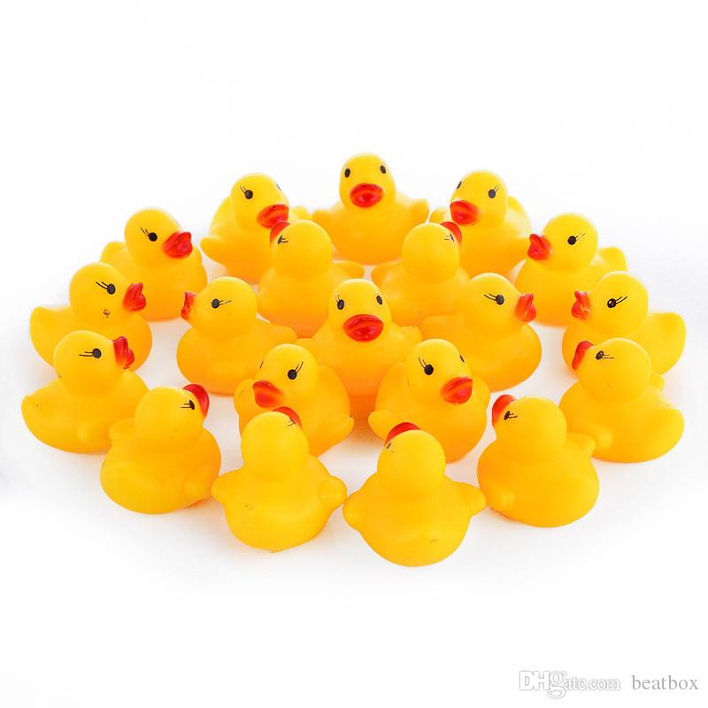 10pcs/lot Cute Baby Kids Squeaky Rubber Ducks Bath Toys Bathe Room Water Fun Game Playing Newborn Boys Girls Toys for Children