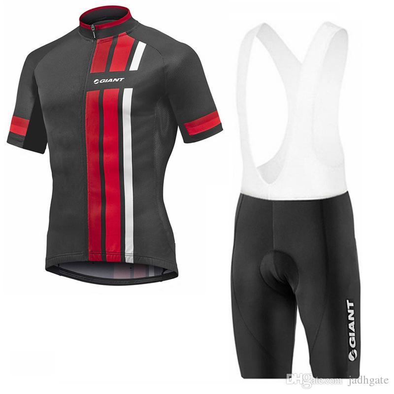 GIANT team Cycling Short Sleeves jersey bib shorts sets new hot breathable and quick-drying ropa ciclismo U102520