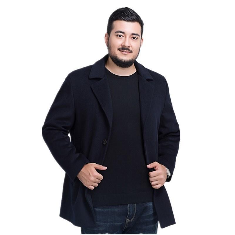 큰 크기 8XL 7XL 긴 트렌치 코트 남자 방풍 겨울 패션 망 오버코트 울 품질 두꺼운 따뜻한 트렌치 코트 남성 자 켓