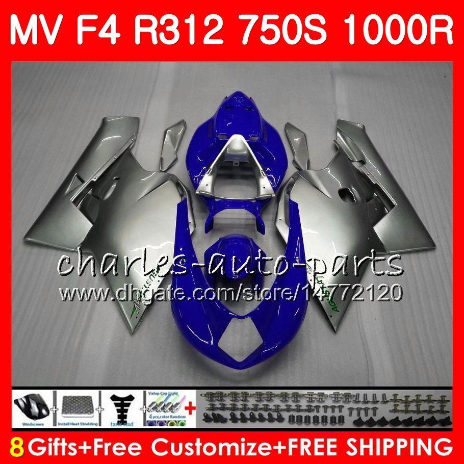 Nadwozie dla MV Agusta F4 1000R 312 1078 1 + 1 750 Pearl Silvery 1000CC 05 06 102HM58 750 R312 750S 1000 R MA MV F4 2005 2006 05 06 Owalnia