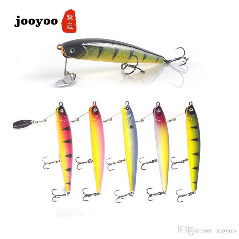 Nuevo señuelo de la pesca con cebo duro 14.7 g / 11.5 cm Mar Pesca Tackle Lápiz Bionic Minnow Fish Bait jooyoo Marca